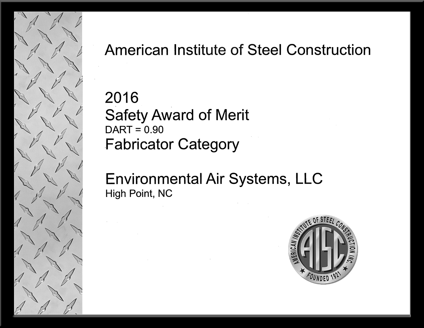 AISC Safety Award